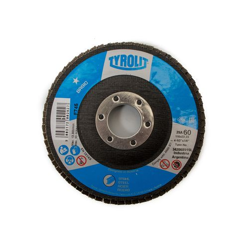 Disco Flap Oxido de Aluminio Basic - Tyrolit