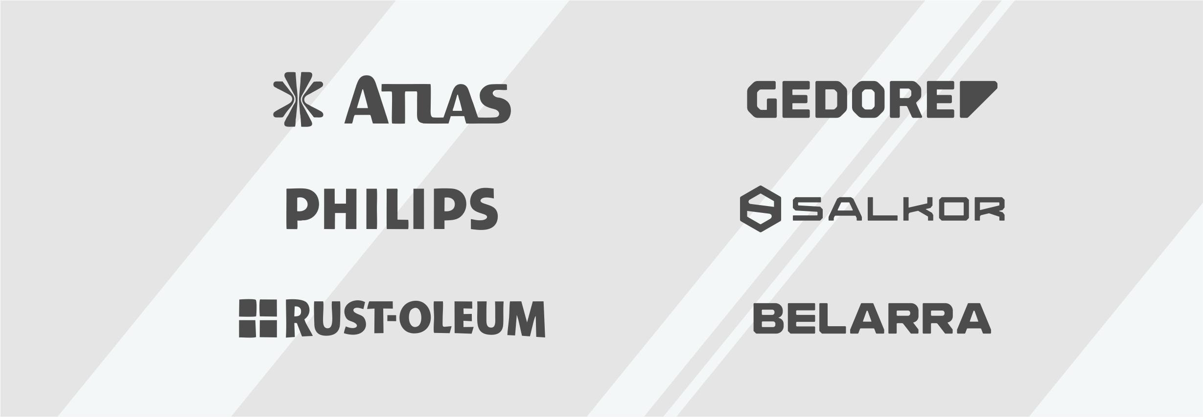 Atlas - Philips - Rust-Oleum - Gedore - Salkor - Belarra